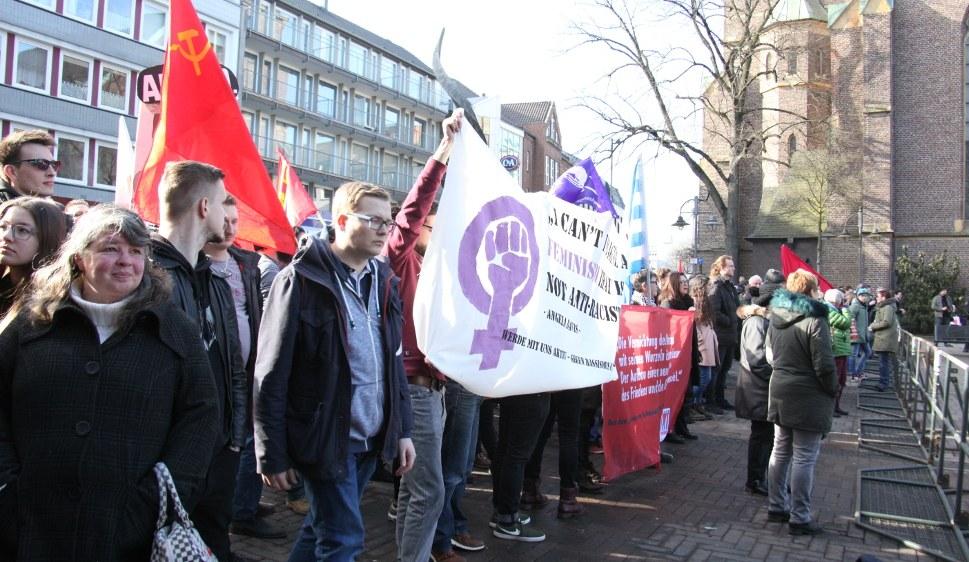 In Bottrop zeigten Antifaschistinnen und Anifaschisten klare Kante gegen den faschistoiden