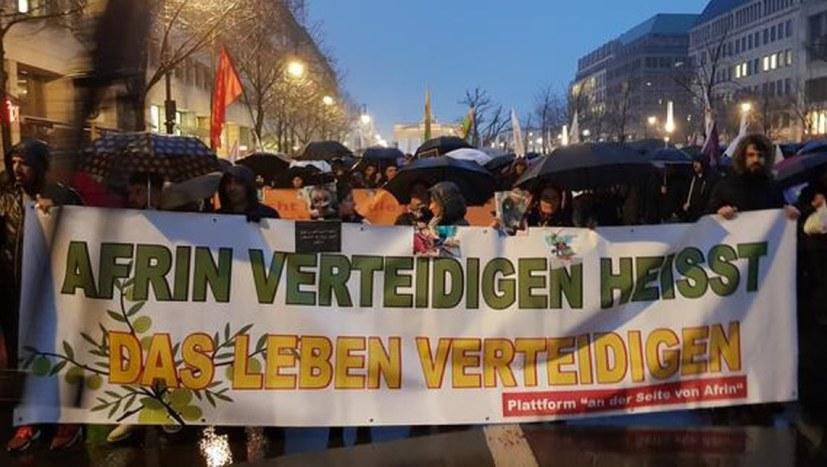 """Demonstrationen und Vorbereitung des Weltaktionstages """"Efrîn wird leben"""""""