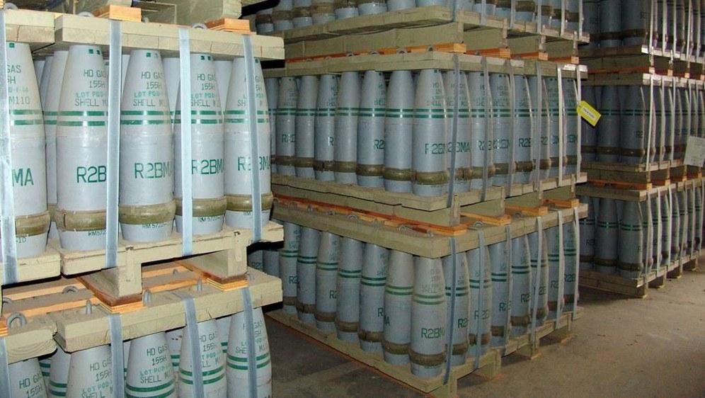 Giftgasbestände (155-mm-Senfgasgranaten) der US-Armee (Foto: US Government)