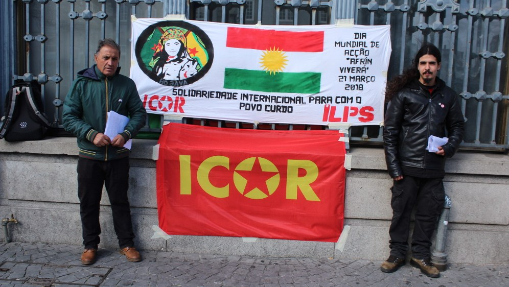 ICOR/ILPS-Aktion in Porto in Portugal (Foto: RF)