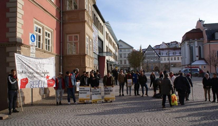 Rebell Eisenach hat eigens ein Fronttransparent gemalt