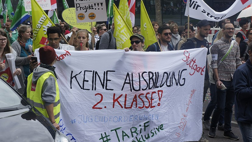 6.500 Demonstranten zeigten Flagge für die ver.di-Tarifforderungen