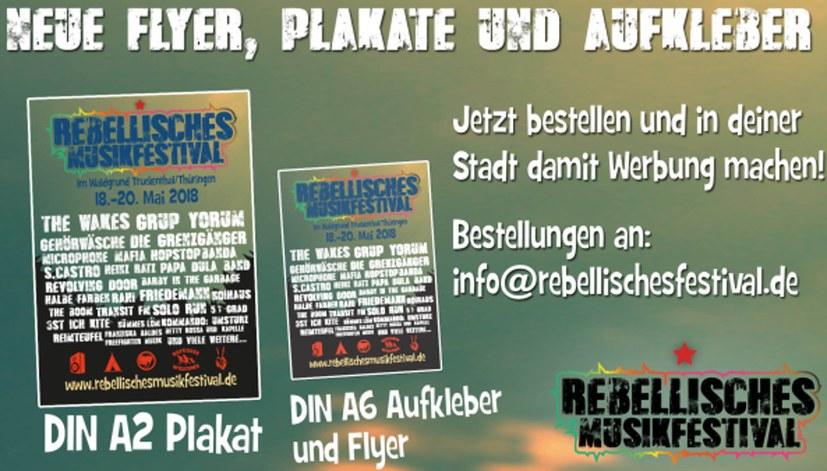 Neue Flyer, Plakate und Aufkleber!
