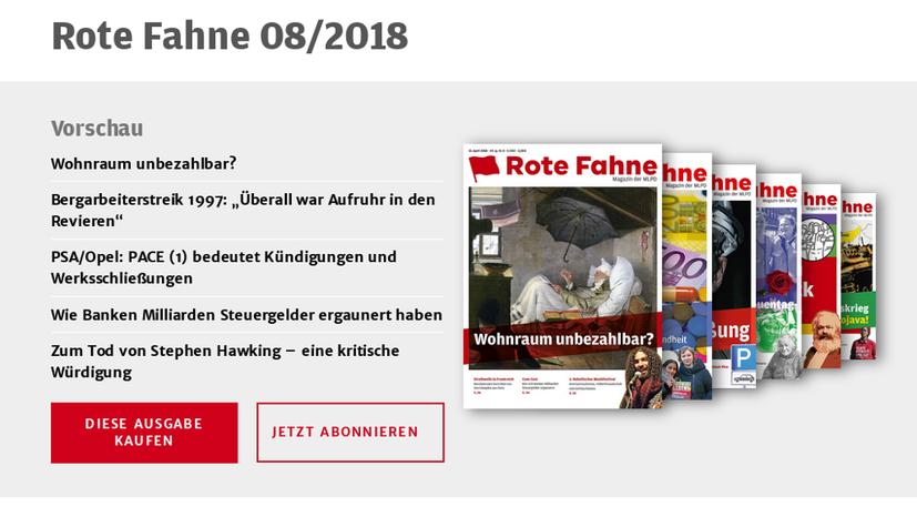 Das Rote Fahne Magazin als PDF-Datei kaufen