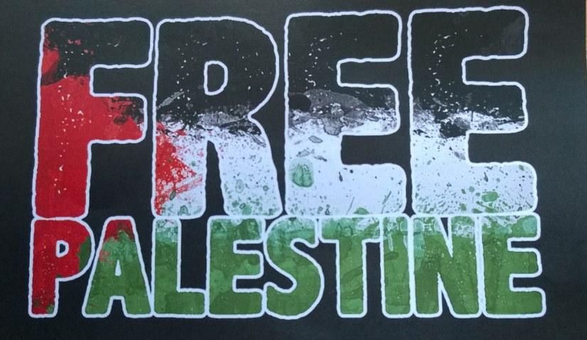 """""""Free Palestine - Freiheit für Palästina! Für ein Ende der Besatzung"""""""