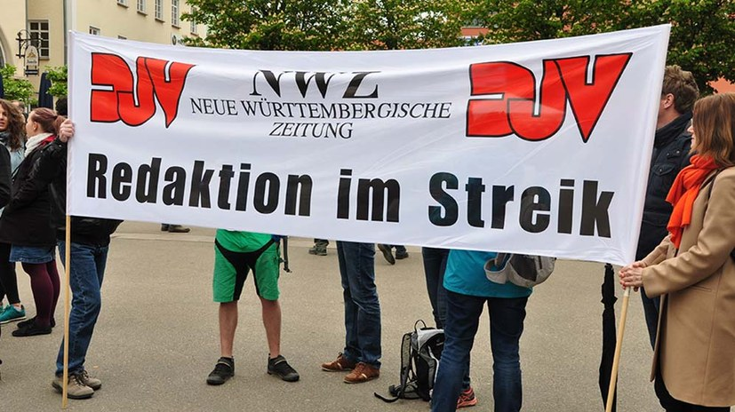 Journalisten im Streik