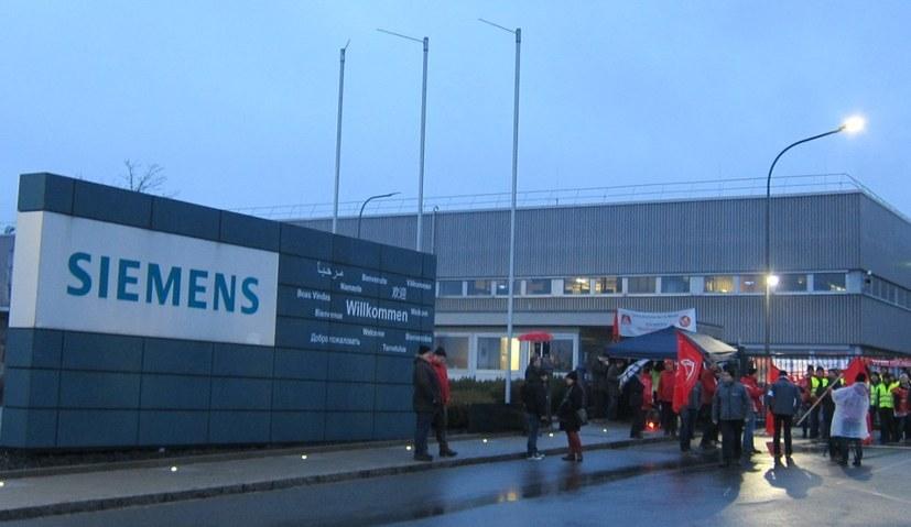 IG-Metall-Warnstreik in diesem Jahr bei Siemens in Kemnath (rf-foto)