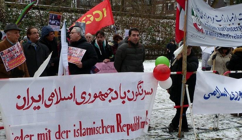 Protest gegen das faschistische Regime im Iran in Hamburg im letzten Jahr (rf-foto)