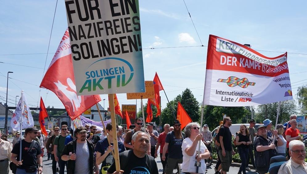 Solingen: Antifaschistische Demonstration durch antikommunistische Exzesse grob geschädigt!