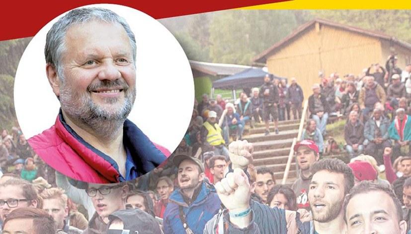 Einladungsflyer zur Diskussionsveranstaltung mit Stefan Engel