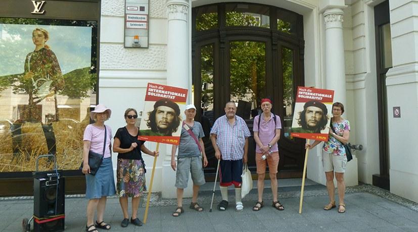 Protestaktion gegen die Auslieferung von Turgut Kaya