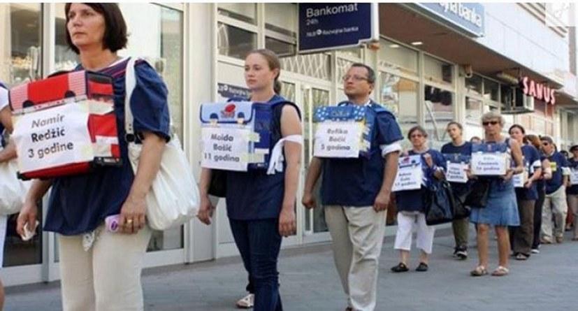 Der Tag der weißen Armbänder in Bosnien-Herzegowina