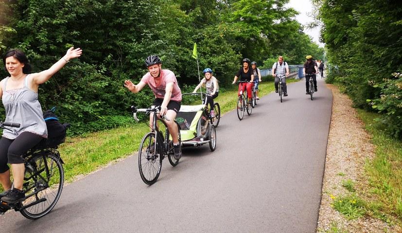 Grüße vom Familien-Radeln aus Bochum