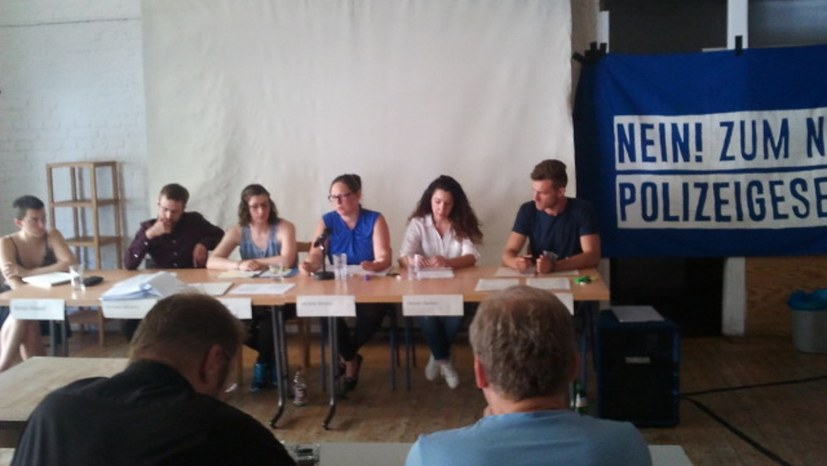 """Pressekonferenz: """"Nein zu diesem Polizeigesetz!"""""""