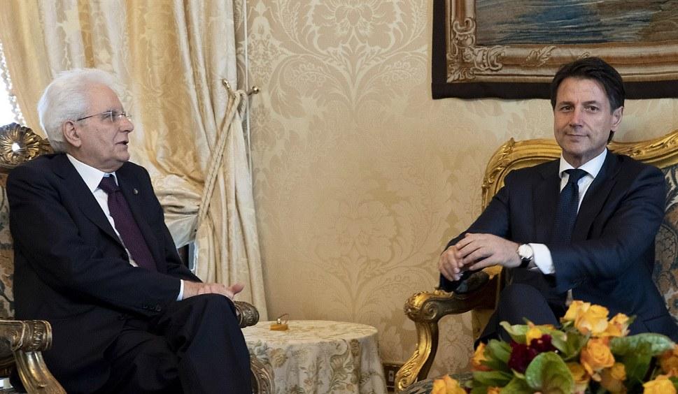 Italiens neuer Ministerpräsident Guiseppe Conte (rechts) mit Staatspräsident Sergio Mattarella (foto: Presidenza della Repubblica)