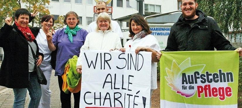 """Demonstration der Pflegekräfte: """"Wir wollen keine warmen Worte mehr"""""""