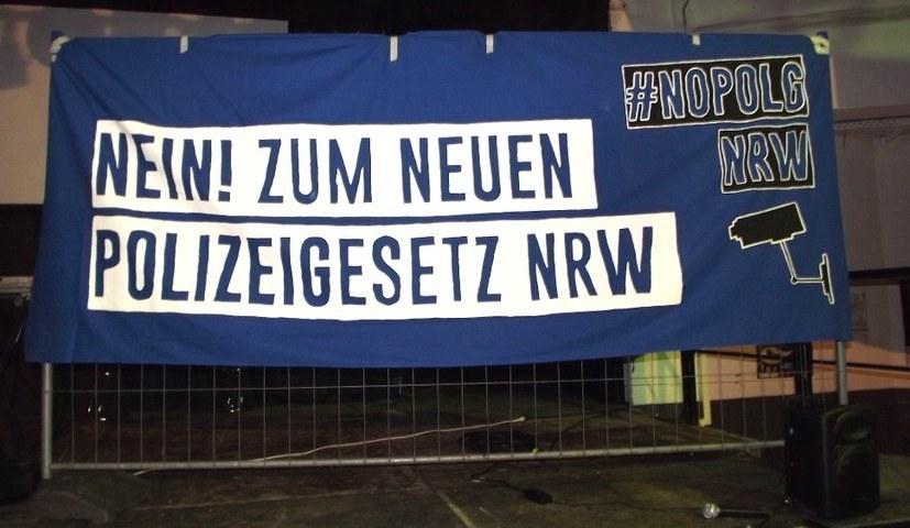 """Demonstration: """"Nein zum neuen Polizeigesetz NRW"""""""