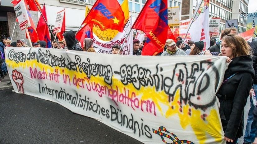 Das Internationalistische Bündniss erteilte der AfD schon mehrfach eine Abfuhr (rf-foto)