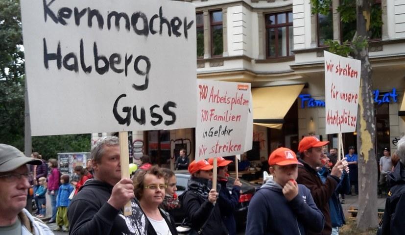 Kämpferische Demo in Saarbrücken - Räumung der Blockade in Leipzig
