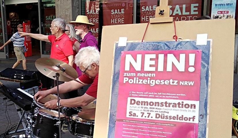 Am Day of Song: Protest gegen das neue Polizeigesetz NRW