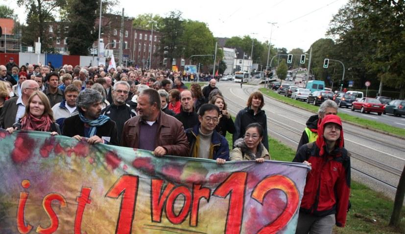 Protest durch Gelsenkirchen Horst