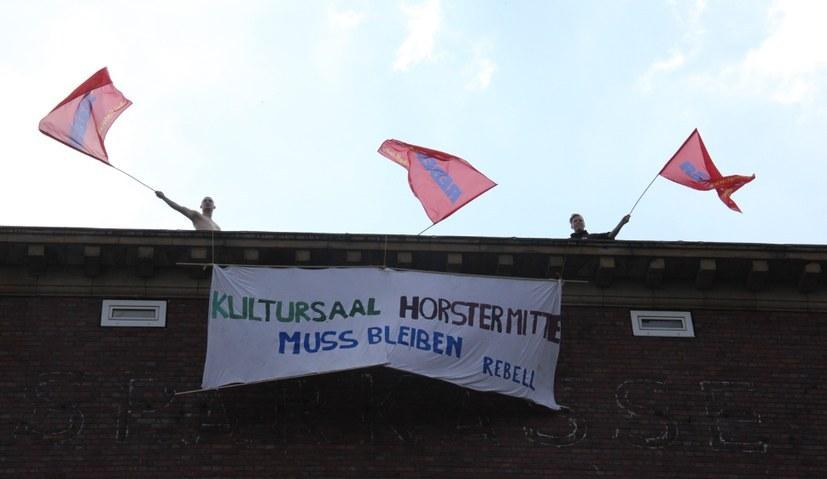 "Protestdemo für den Kultursaal der ""Horster Mitte"""