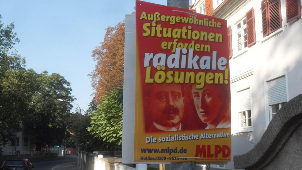 MLPD-Wahlplakat zur Bundestagswahl 2009 (Foto: Wikimedia-User Jivee Blau)