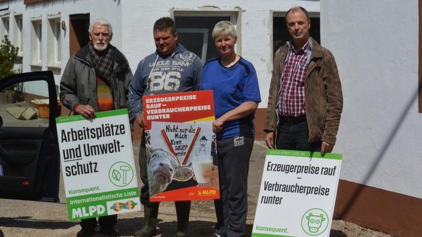 Wahlkampftour der MLPD 2017 mit Milchbauern durch die Eifel (Foto: RF)