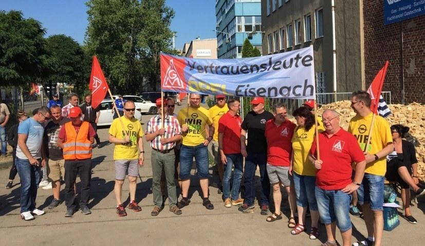 Solidarität aus Eisenach für die Leipziger Halberg-Guss-Belegschaft (rf-foto)