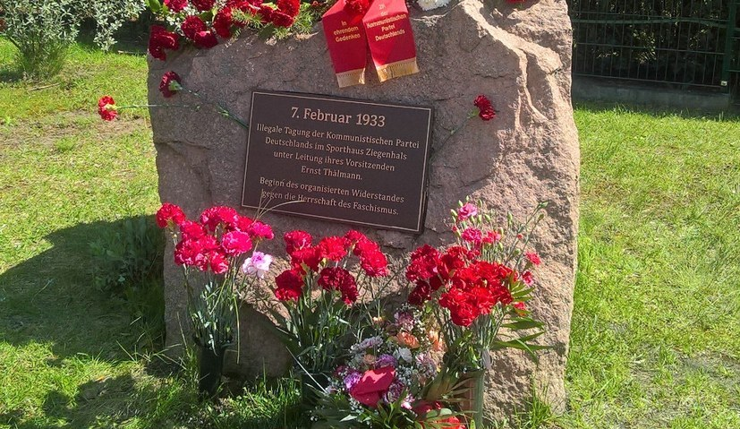 Kundgebung anlässlich des 74. Jahrestags der Ermordung Ernst Thälmanns