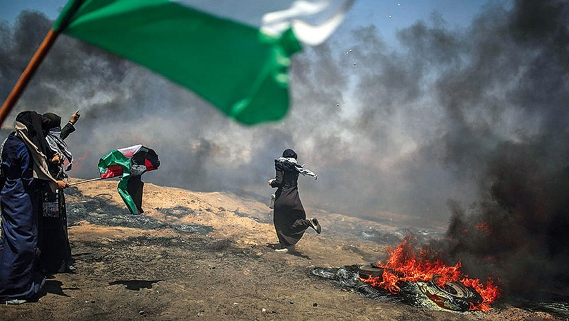 Nakba-Tag 2018: Protest gegen Vertreibung und Unterdrückung (Foto: Jordi Bernabeu Farrus / CC BY 2.0)
