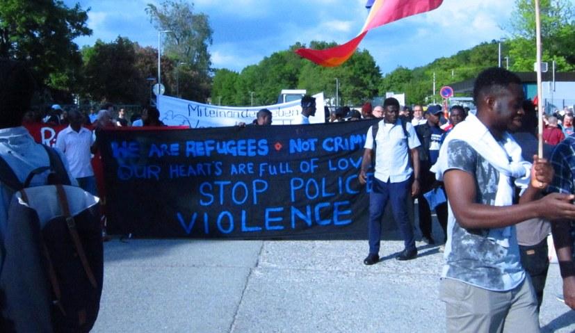 Protestdemonstration und Solidaritätskundgebung