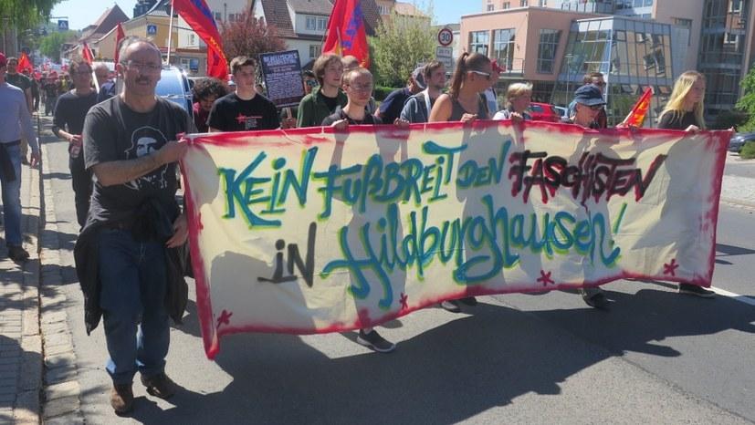 2017 in Hildburghausen (Thüringen) antifaschistische Proteste (rf-foto)