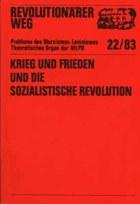 """RW 22: """"Krieg und Frieden und die sozialistische Revolution"""""""