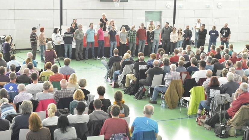 Bidl vom Wahlkongress des Internationalistischen Bündnisses im Oktober 2017 in Berlin (rf-foto)