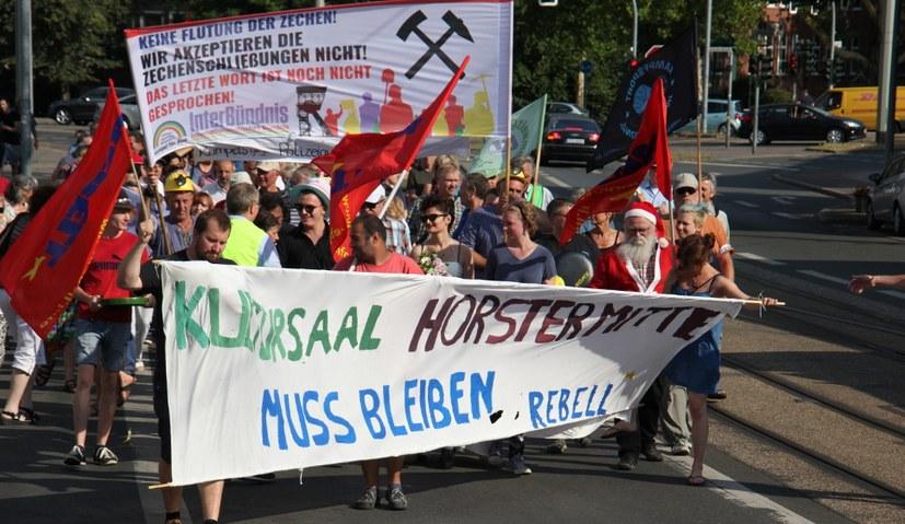 Protest gegen Zechenschließungen und Zechenflutung!