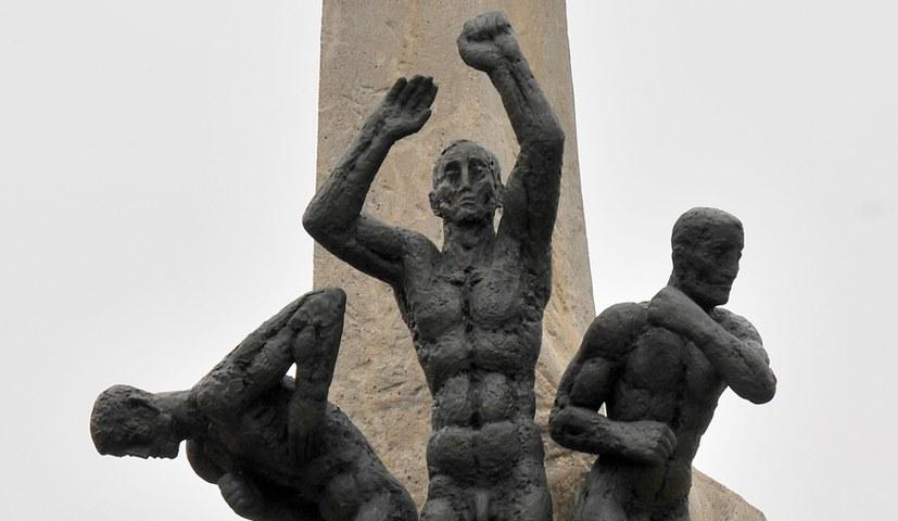Hans-Beimler-Stele in neuem Glanz