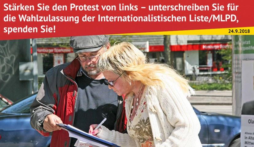 """""""Stärken Sie den Protest von links – unterschreiben Sie! """""""