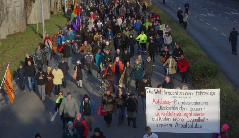 Protest gegen Feinstaubbelastung und