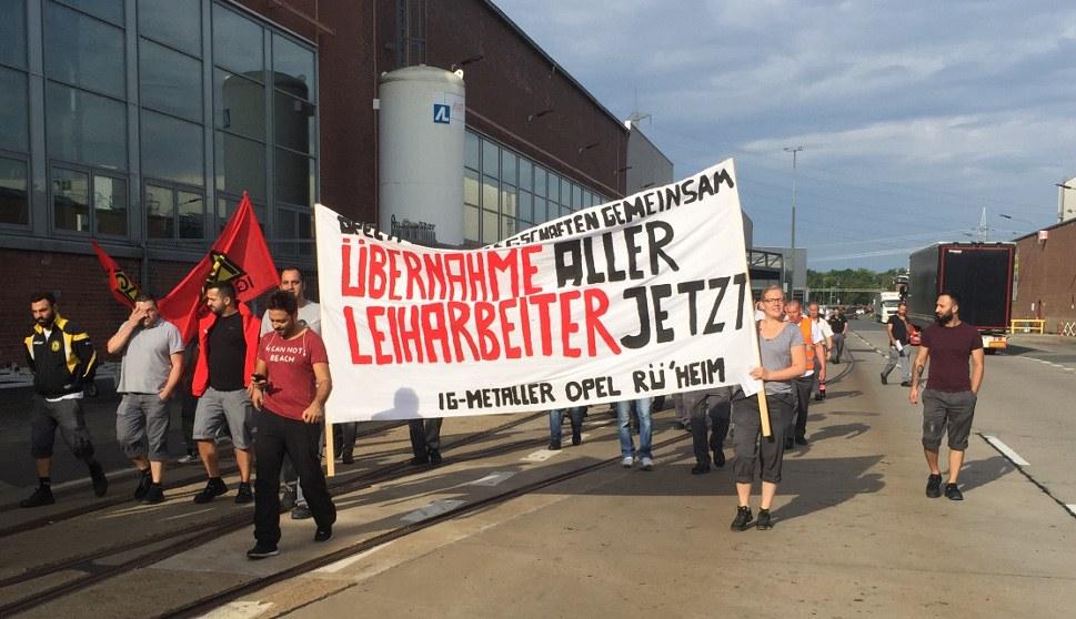 Auch im Juli 2018 demonstriwerten die Kolleginnen und Kollegen zur Versammlung (rf-foto)