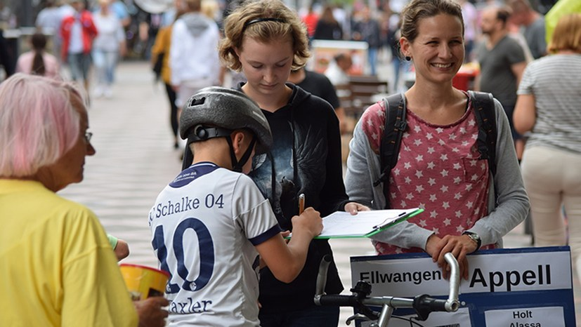 Auch der Kampf gegen Abschiebungen und reaktionäre Flüchtlingspolitik wird in Berlin eine zentrale Rolle spielen (rf-foto)