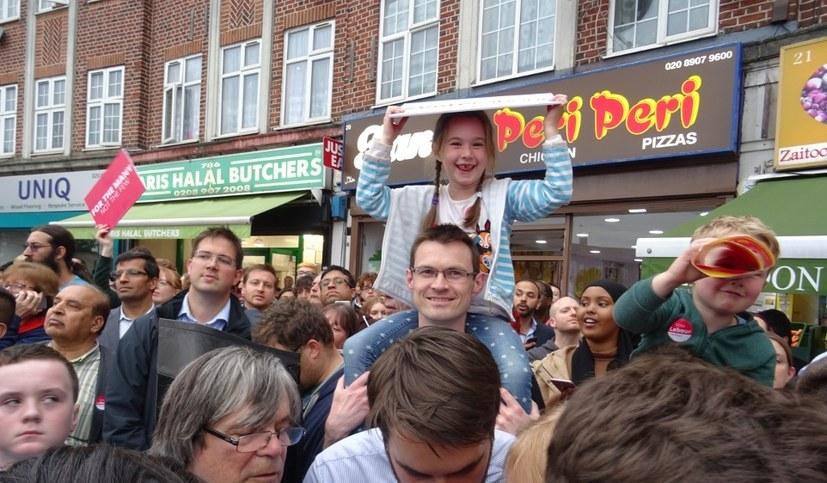 Bild vom letzten Wahlkampf in Großbritannien - die Menschen suchen nach einer Alternative (rf-foto)