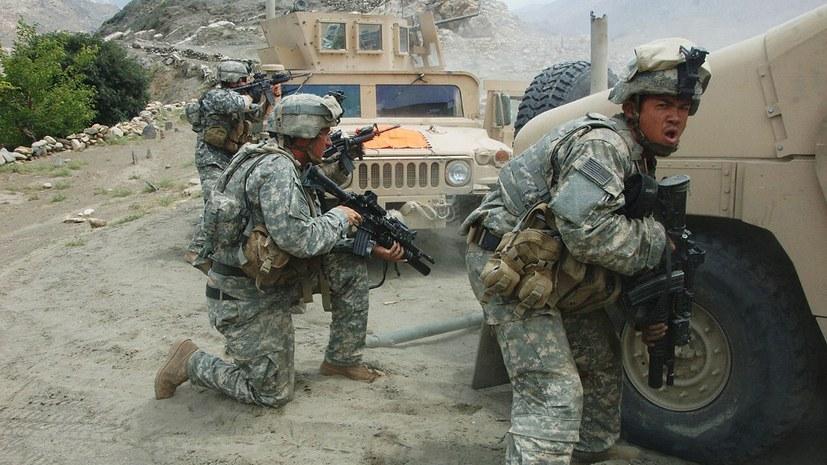 Die Realität in Afghanistan: US-Truppen bei einem Feuergefecht mit Taliban (foto: gemeinfrei)