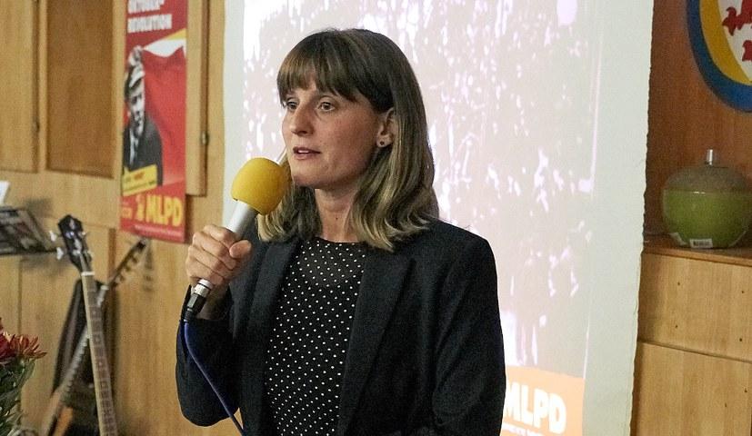 Optimistische und kämpferische Veranstaltung mit Gabi Fechtner