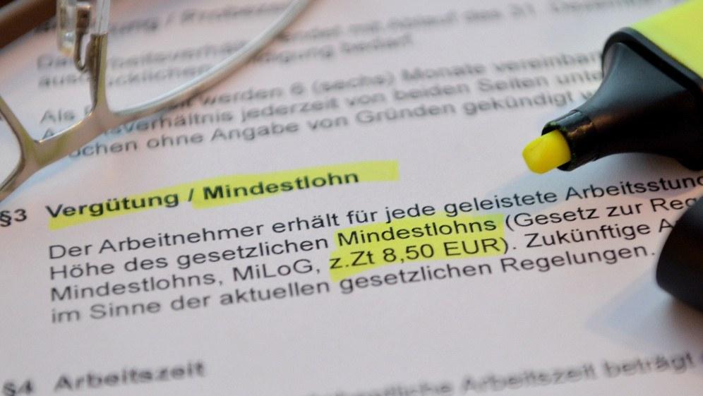 In Höhe von 8,50 Euro lag der Mindestlohn bei seiner Einführung am 1. Januar 2015 (Foto: Dirk Vorderstraße - Eigenes Werk)