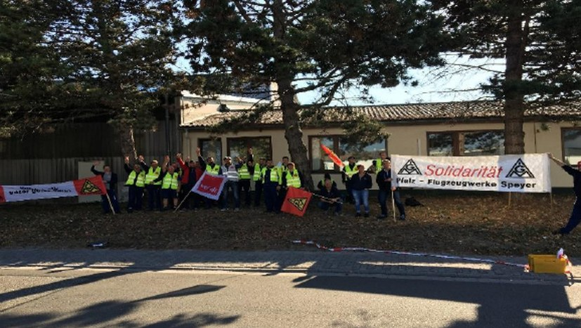 Beschäftigte bei Smurfit Kappa Service in Germersheim, brauchen Unterstützung