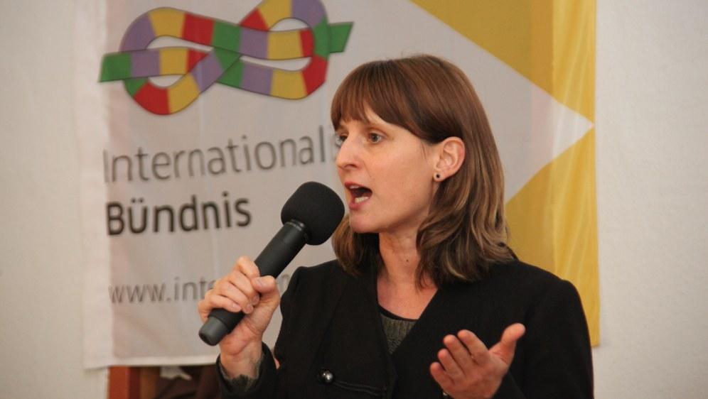 Gabi Fechtner beim Kongress (Foto: RF)