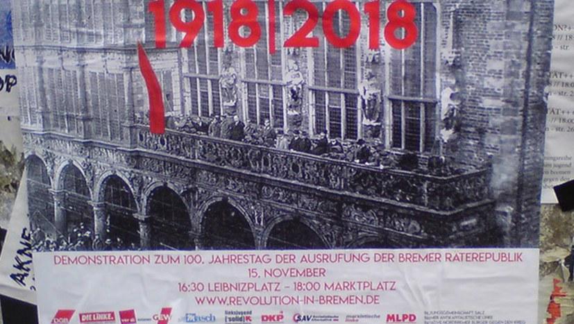 Gedenkgang und Demonstration zum 100. Jahrestag der Ausrufung der Revolution
