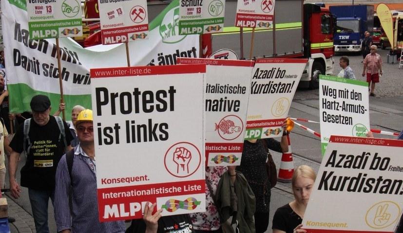 Wirklicher Protest gegen die Rechtsentwicklung der Regierung und die ultrareaktionäre AfD kann nur von links kommen (Foto: RF)