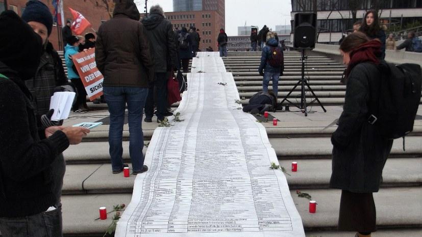 Gedenken an die Toten an europäischen Grenzen